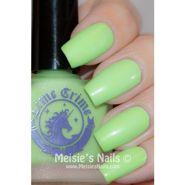 [Review] Lime Crime Les Dessert d'Antoinette Nail Polish Collection ❤ liked on Polyvore featuring beauty products, nail care, nail polish and lime crime