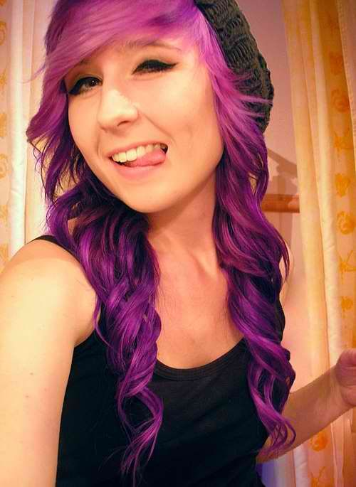 tumblr scene hair | MeezMaker Scene Hair With Medium Curls With Beanie / Or Without , For ...