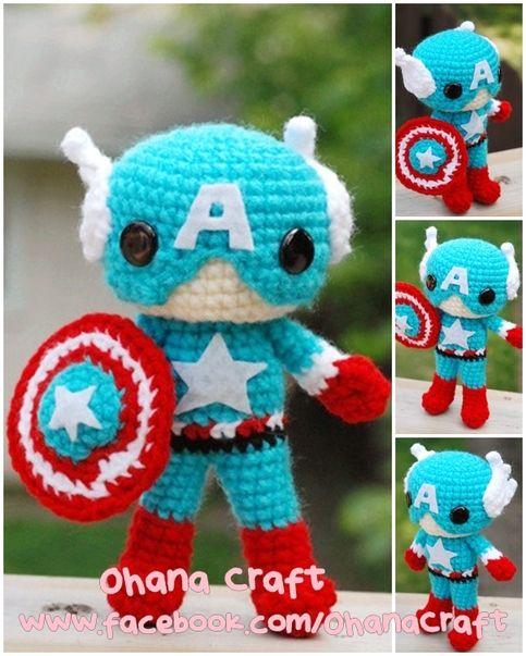 Elképesztő! Amigurumi Amerika Kapitány!! / Captain_20america_20cover_large