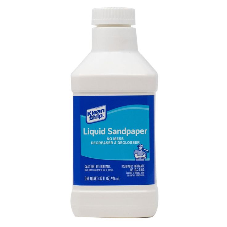 Kleanstrip 1 qt liquid sandpaper cleaner deglosser