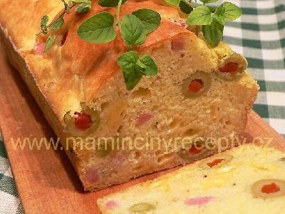 Francouzský chléb s olivami