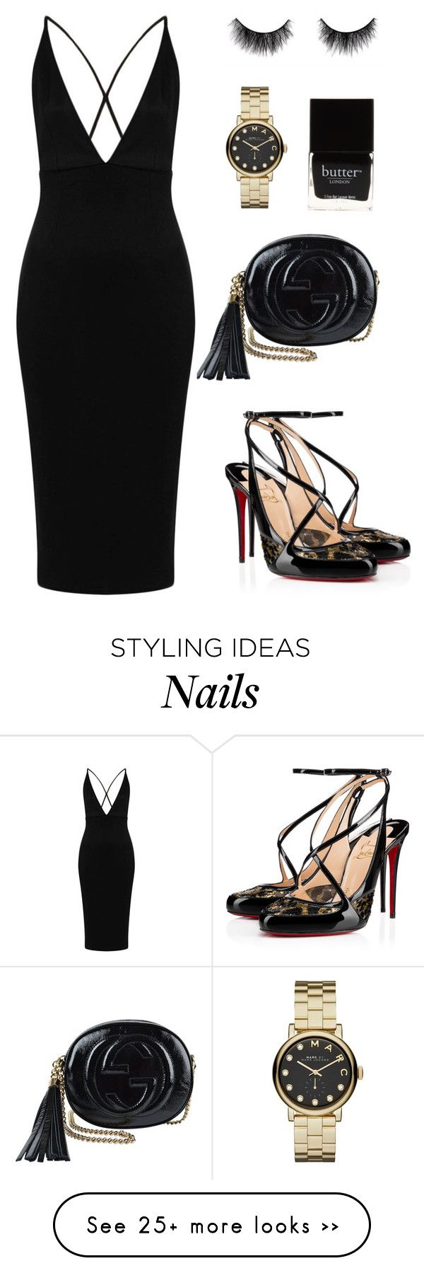 """""""Flashlight!"""" by zeineb-ayachi on Polyvore featuring Gucci, Oh My Love, Christian Louboutin, Butter London and Marc by Marc Jacobs"""