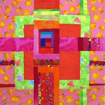 Six completed large quilt blocks, each a piece of art on its own. By Melody JohnsonQuilt Block