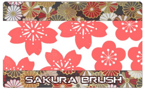 Sakura brush by KabutoNeko.deviantart.com on @deviantART
