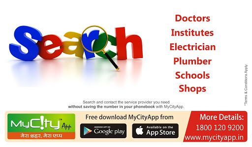 Search what you want in your city...... ‪#‎doctor‬ ‪#‎institute‬ ‪#‎Electrician‬ ‪#‎plumber‬ ‪#‎school‬ ‪#‎shops‬ Download MyCityApp http://mycityapp.in/