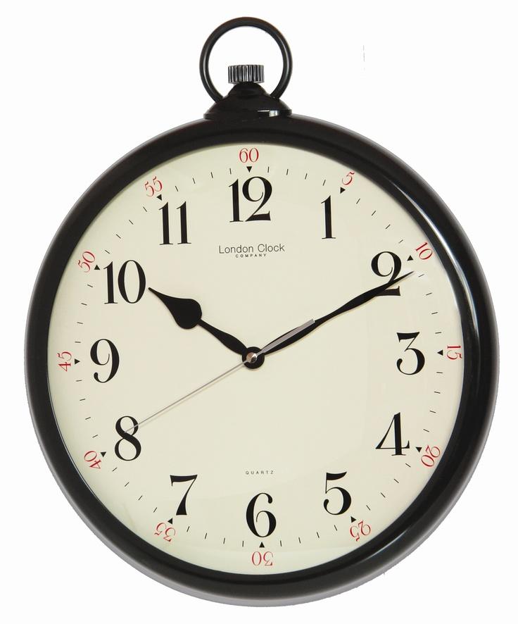 London Clock Company Wall Clock in Black | Wayfair UK