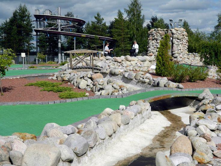 Mini golf, Kalajärvi Peräseinäjoki, Finland.
