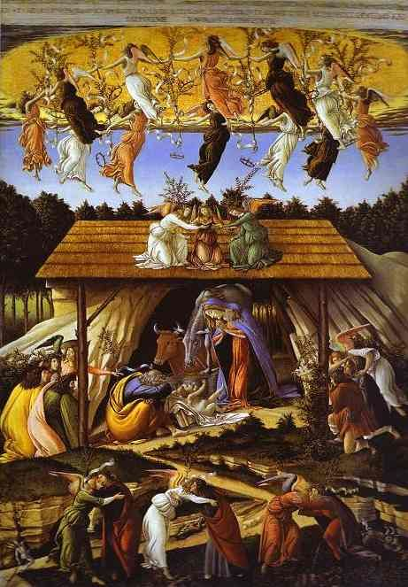 Mystic Nativity by Allessandro (Sandro) Botticelli / 1500's