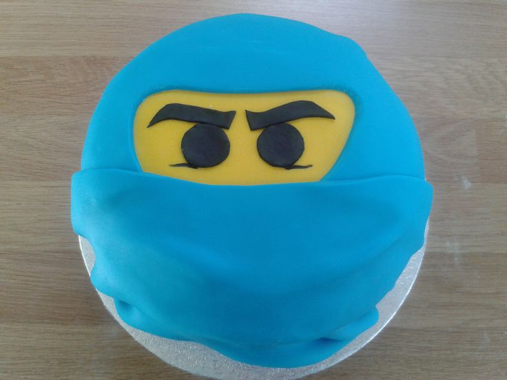 A lego ninjago figure cake as requested for an eighth birthday