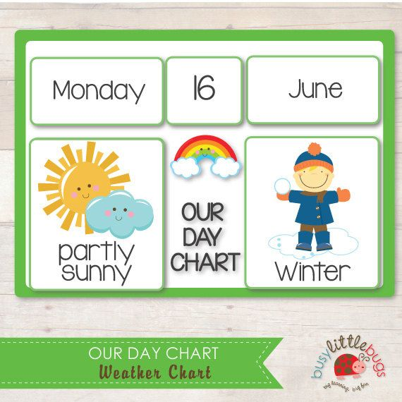 Kindergarten Calendar Weather Chart : Weather chart our day automatic download