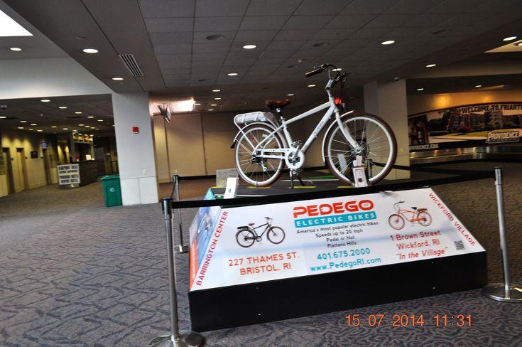 https://flic.kr/p/ohiTD4 | PEDEGO Electric Bikes inside T Green Airport Providence, RI | 2014 July 15 Inside T Green Airport Providence RI