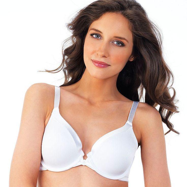 Plus Size Vanity Fair Bras: Illumination Front-Closure 3-Way Convertible Bra 75339, Women's, Size: 40 D, White