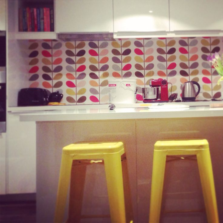 Work In Progress Orla Kiely Multi Stem Wallpaper White