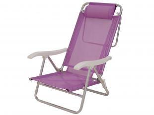 Cadeira Reclinável com Guarda-Sol - Mor Sol de Verão