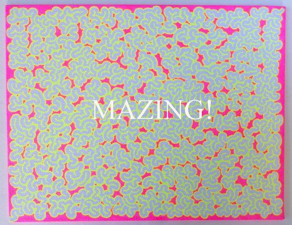 Maze Art  Glows Under Black Light  Art You by TwistedFingerDesigns