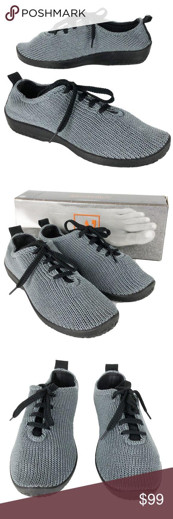 Arcopedico 6.5/37 Titanium LS 1151 Womens Fabric Arcopedico  Size 37/6.5 (according to the Arcopedico shoe size chart) LS 1151  Titanium Fabric Comfort Shoes  New In Box 807883276788 No Trades Arcopedico Shoes Flats & Loafers