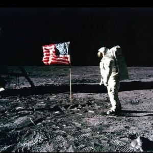 The moon landing- Possibly the most talked-about, debated and controversial picture in history, the picture of the moon landing has been by kimmisan1