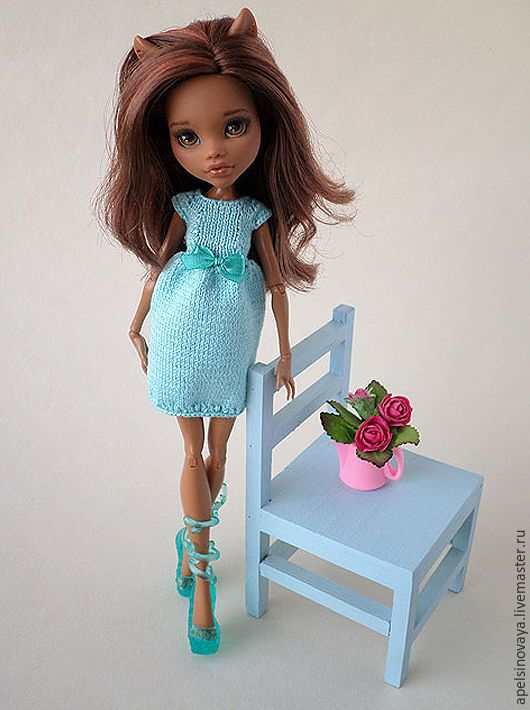 Купить Платье-тюльпан для кукол МХ - одежда для кукол, monster high, мх, монстер хай