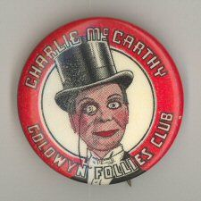 Charlie McCarthy Comic Strip Pinbacks