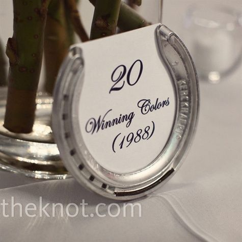 I had the idea to use famous racehorse names as table names before I saw this but I really like the design