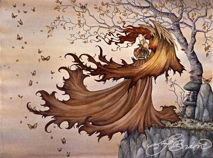 11x14 Art Print - Passage to Autumn by Amy Brown, Amy Brown, Fantasy Art Trading's Online Store