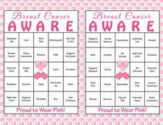 60 Breast Cancer Awareness Month Bingo Cards - Printable Pink Ribbon Event Activity - Instant Download - Think Pink Ta-tas October BCA002