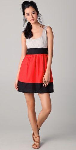 Vera Combo Dress / BB Dakota {loving the colorblock on this dress} $95