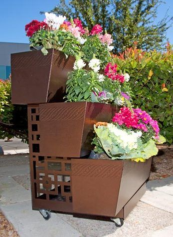 25 Best Images About Wheeled Planters And Stands On