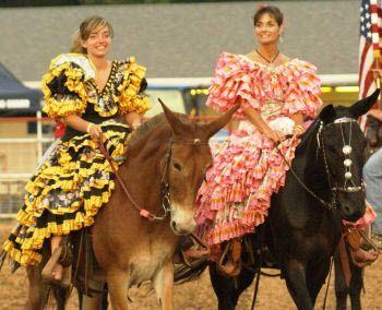 En traje de faralaes. Courtesy: Ozark Mule Days. Ozark, Missouri (USA)