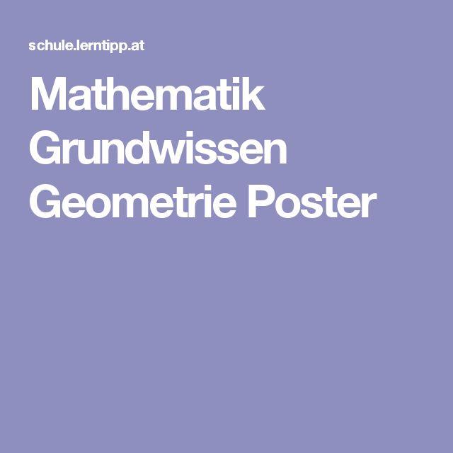 Mathematik Grundwissen Geometrie Poster