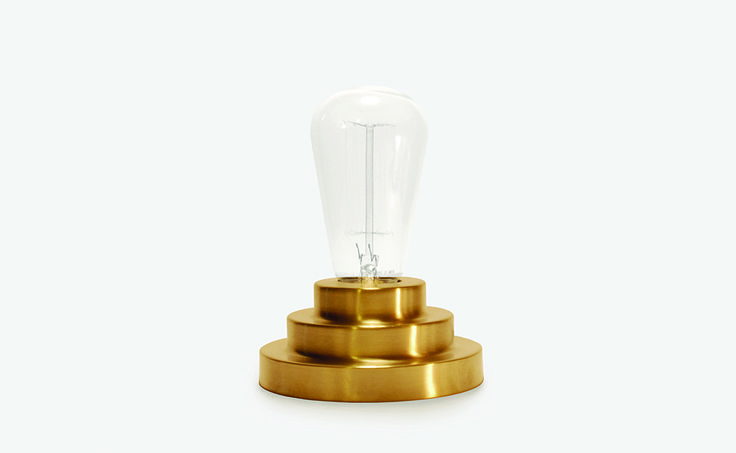 The Podium Lamp, spun brass base with vintage style bulb
