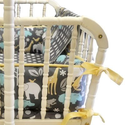 Cradle Bedding Urban Zoo - would love this for a boy nursery!
