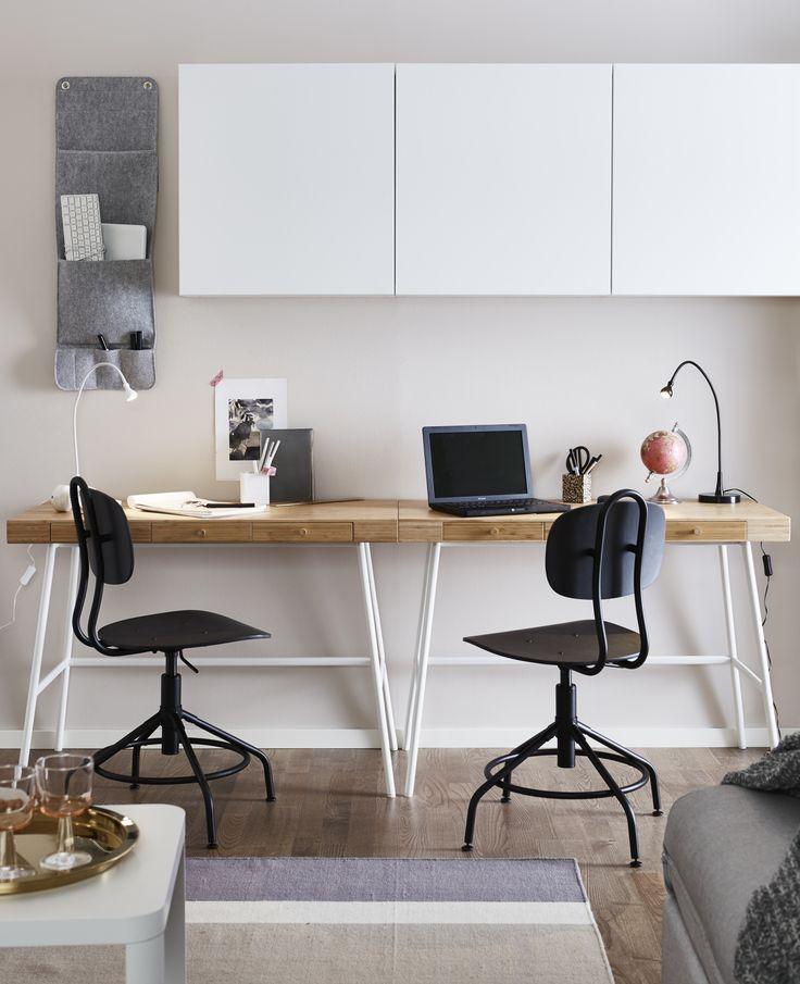 LILLÅSEN bureau | IKEA IKEAnl IKEAnederland werkplek werkspot studeren werken studeerplek werkkamer kamer woonkamer werk KULLABERG bureaustoel BESTÅ kast kasten opberger opbergen opbergmeubel kantoor inspiratie wooninspiratie interieur wooninterieur