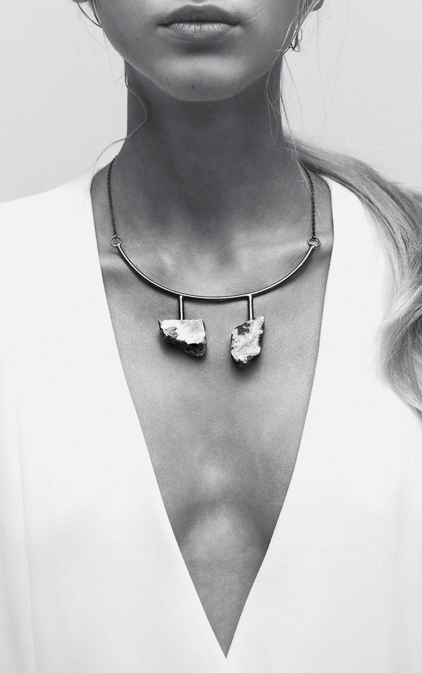 LLY Atelier   A Contrario collection   One of a kind, Raw Rocks Necklace