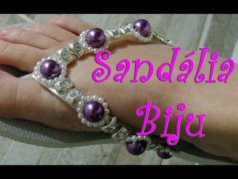 Sandália biju - YouTube