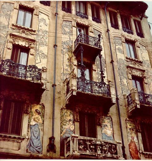 G.B. Bossi. Casa Galimberti, 1905, Via Malpighi 3. Milano, Stile Liberty