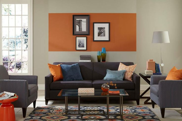 There s never been a better time to get creative with your Orange color paint for living room