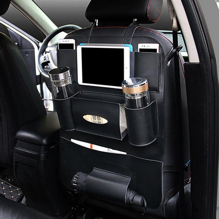 Car Back Seat Multi Pocket Phone Cup Holder PU Leather Seat Organizer Vehicle Auto Seat Storage Bag Sale - Banggood Mobile