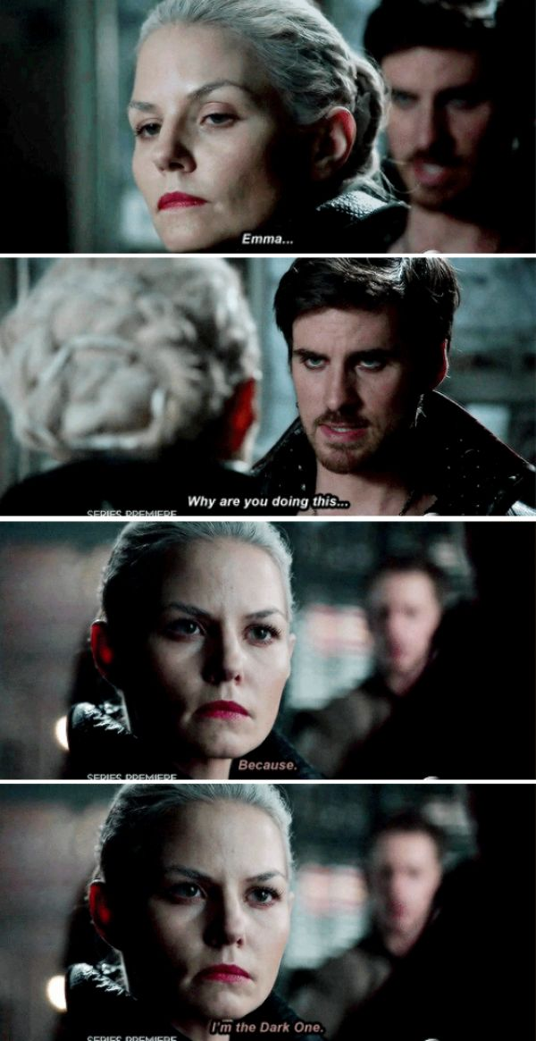 Jennifer Morrison for the win! This gave me chills and her evil eyebrow is epic! #onceuponatime