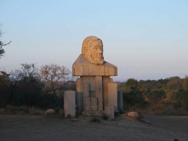 Paul Kruger statue at Kruger Park gate