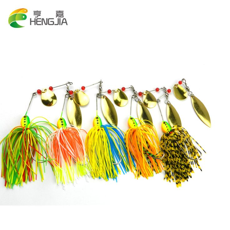 HENGJIA 5pcs 16.5G spinnerbait buzz bait fishing lure isca artificial fishing bait spoon rubber jig spinner lure bass pesca Cebo #Affiliate