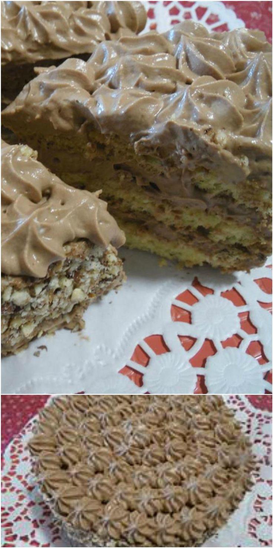Torta farcita con mascarpone e nutella! #torta #nutella #mascarpone #ricettegustose