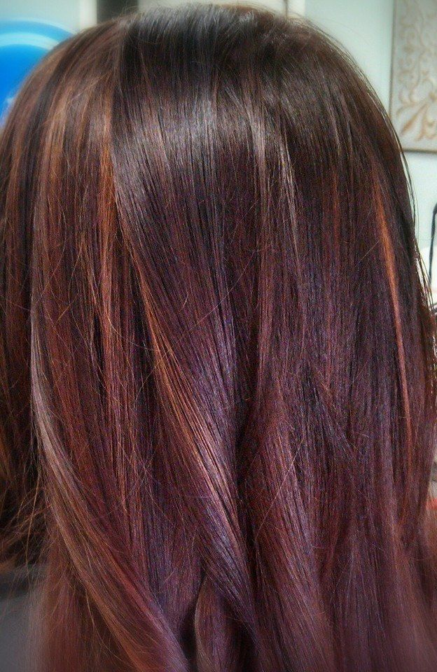 Autumn Color Auburn With Balayage Color By Kristen Parks