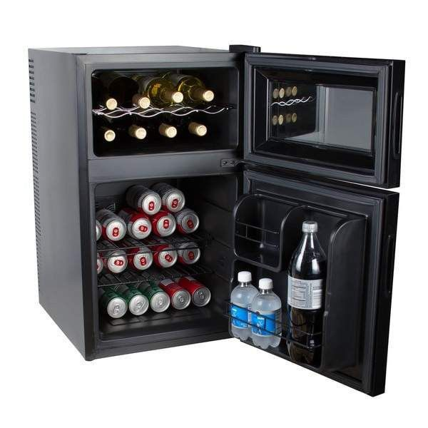 Kalorik Black 2-In-1 Mini-Fridge And Wine Cooler-WCL 42513 BK  #bestknives #bellini #kitchenknives #kitchentools #smallappliances #spherificator