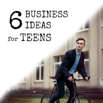 6 Business Ideas for Teenagers. I really wish I'd had more of the mindset for running my own biz as a teen, but at least am finally learning now :) These ideas aren't ones I'd pursue, but for teens they're a good start! There are so many great advantages to having control over both your time and money!