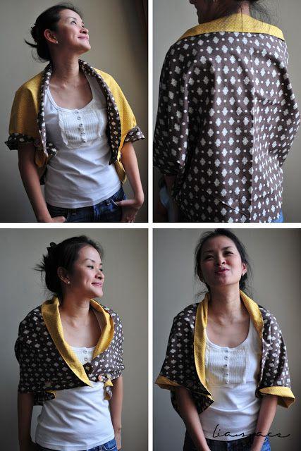 lia's crafty journey: tutorial: multi reversible cape