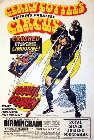 Gerry Cottle's Circus Khalil Oghaby Original 1976 Poster by Frank Bellamy | eBay