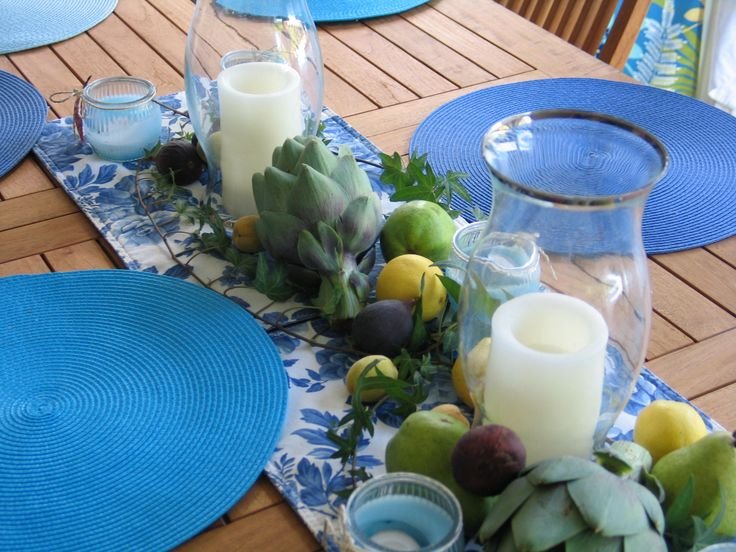 Greek Dinner Party Ideas Part - 32: Centerpiece For Outside Greek Dinner Party, Use Real Fruit And Vegetables.