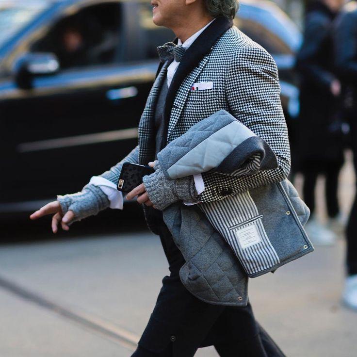 """MASAFUMI. #MasafumiSuzuki wearing @ThomBrowneNY during #MFW #FW16.  www.jaiperdumaveste.com  #Jaiperdumaveste #JPMV #NabileQuenum #StreetStyle #Style…"""