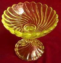 Amber Vaseline Glass